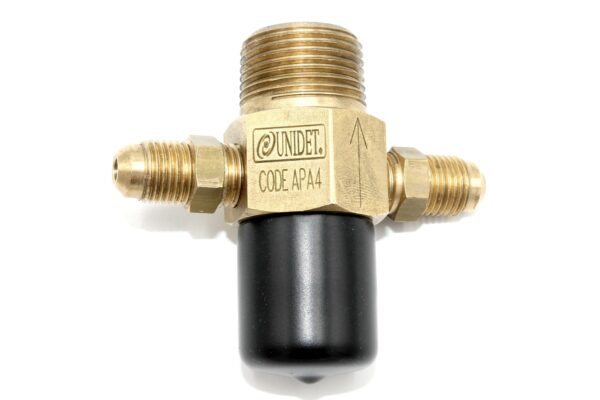 APA4 - THROTTLED CHECK VALVE BALL WITH DOUBLE NIPPLE