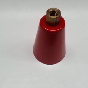 cono rosso con ugello in ottone per polvere - red cone with nozzle in brass for dry chemical